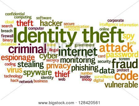 Identity Theft, Word Cloud Concept 8