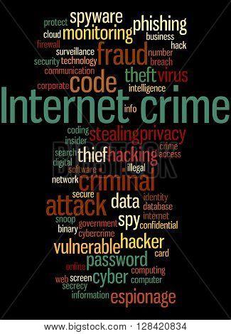 Internet Crime, Word Cloud Concept 2