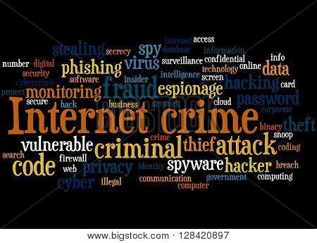 Internet Crime, Word Cloud Concept 5