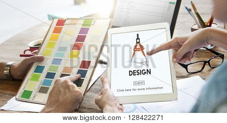 Design Compass Architecture Engineering Technology Concept