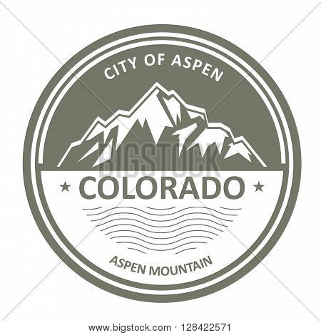 Snowbound Rocky Mountains - Colorado Aspen label