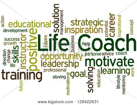 Life Coach, Word Cloud Concept 9