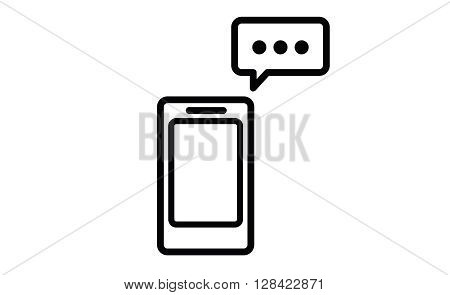Sms messenger. Speech bubbles. Phone chat interface