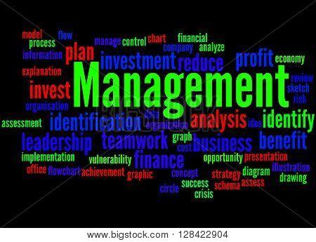 Management, Word Cloud Concept 7