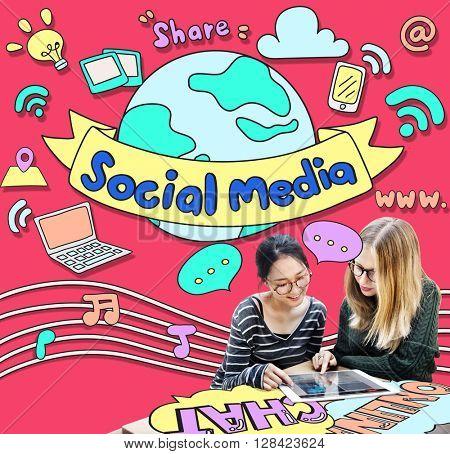 Social Media Connection Communication Internet Concept