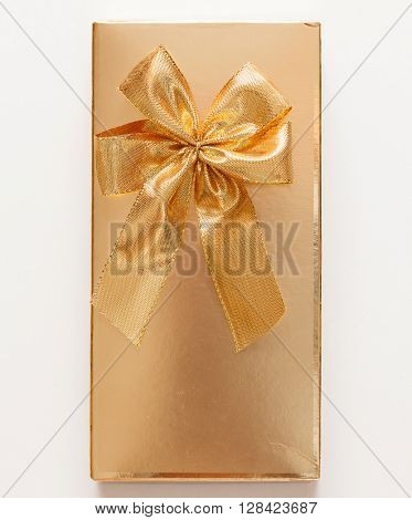 present with gold bow