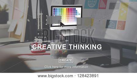 Creative Process Ideas Graphic Design Layout Concept