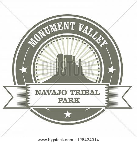 Monument Valley stamp - Navajo Tribal Park embelm