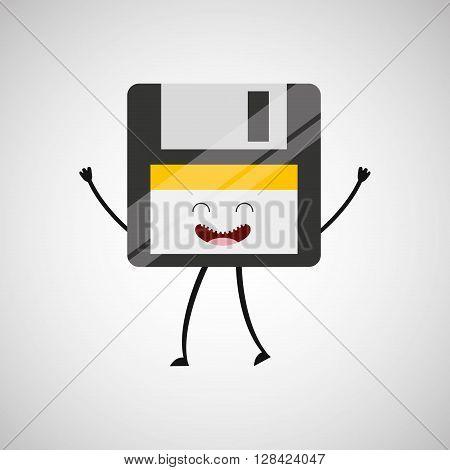 floppy character design, vector illustration eps10 graphic