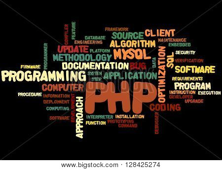 Php Programming, Word Cloud Concept 4