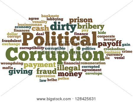 Political Corruption, Word Cloud Concept 5