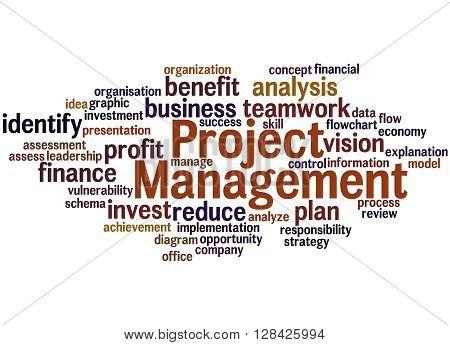 Project Management, Word Cloud Concept 4