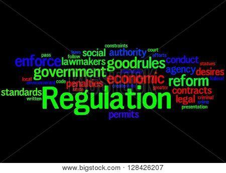 Regulation, Word Cloud Concept 4