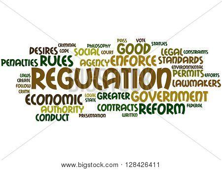 Regulation, Word Cloud Concept 7