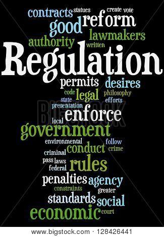 Regulation, Word Cloud Concept 9