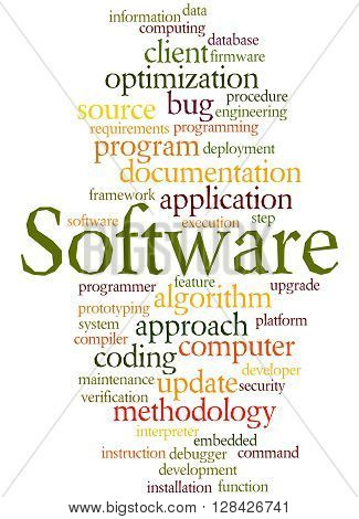 Software, Word Cloud Concept 7