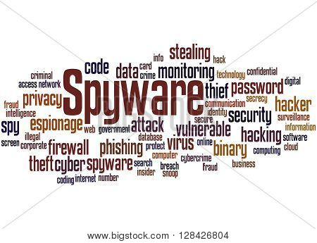 Spyware, Word Cloud Concept