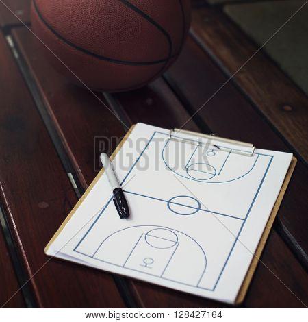 Basketball Court Ball Game Play Concept