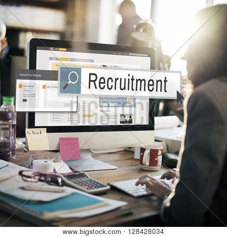 Recruitment Job Work Vacancy Search Concept