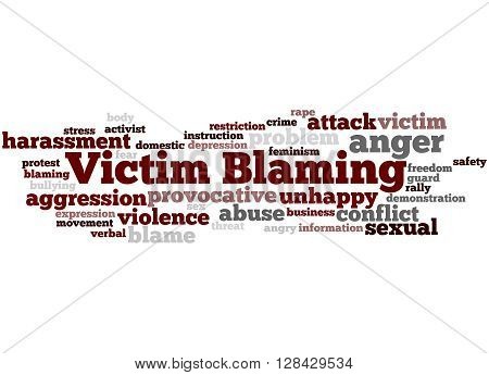 Victim Blaming, Word Cloud Concept 5