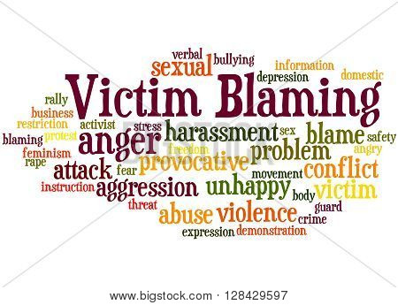 Victim Blaming, Word Cloud Concept 7
