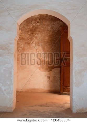 Kasbah Telouet, Morocco Shadow and light through arches and doors