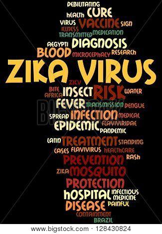 Zika Virus, Word Cloud Concept 4