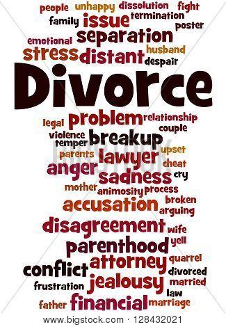 Divorce, Word Cloud Concept