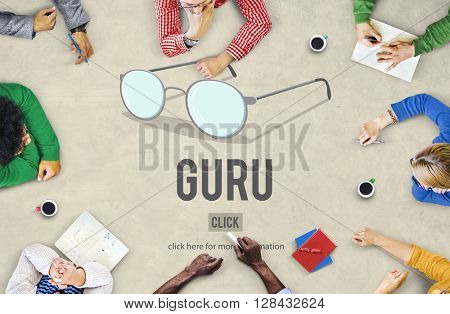Guru Master Mentor Leader Professional Concept