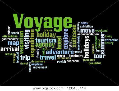 Voyage, Word Cloud Concept 6