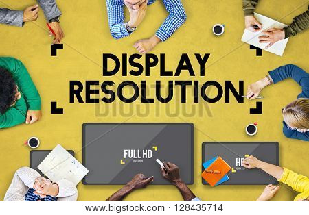 Display Resolution Screen Modern Technology Concept