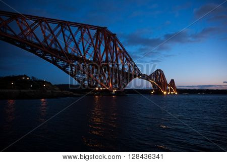 The Edinburgh Forth Rail bridge in Scotland