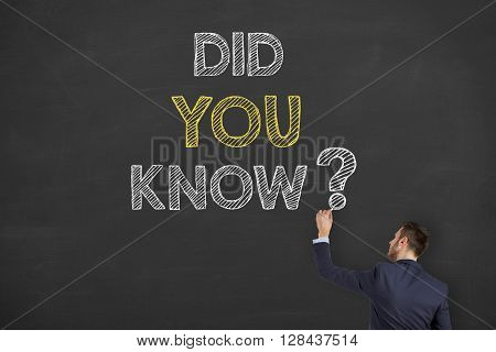 Did You Know Drawing on Blackboard Working Conceptual Business Concept
