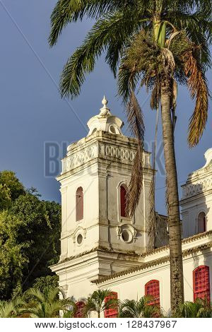 Chapel Tower Detail of Our Lady of Conception built in the 18th century in the city of Salvador Bahia