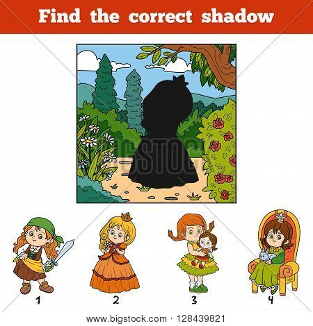 Find The Correct Shadow. Find Girl By Shadow