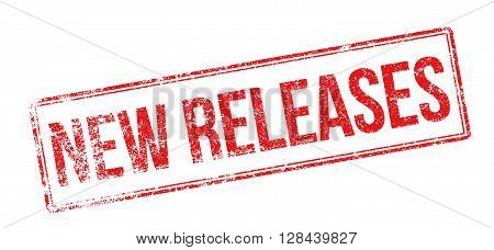 New Releases Red Rubber Stamp On White