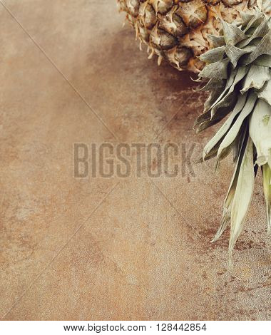 Food. Pineapple on the table