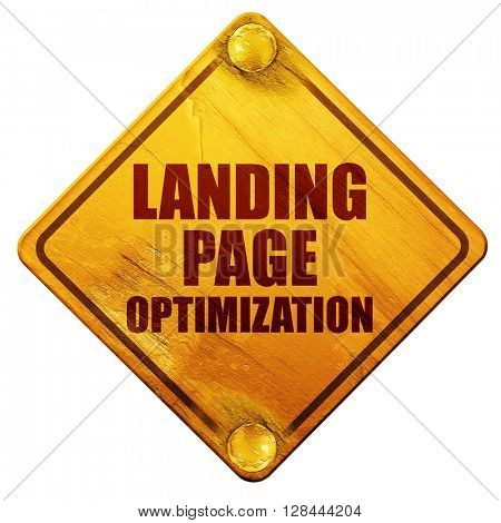 landing page optimization, 3D rendering, isolated grunge yellow