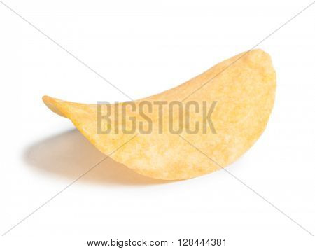 Potato chip isolated on white background