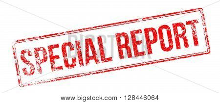 Special Report Red Rubber Stamp On White