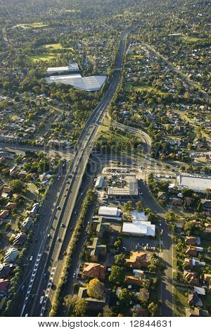 Aerial view of Metroad 6 in Ryde, Australia.