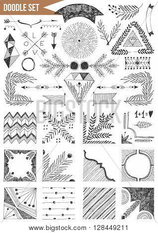 Hand drawn set - Vintage elements