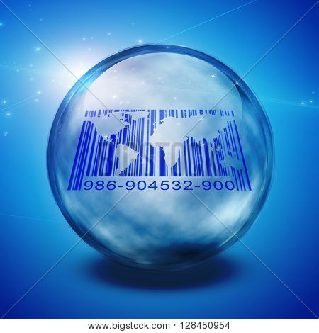 World Barcode Captured 3D Render