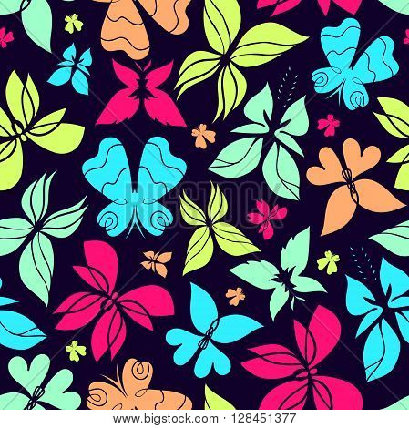 Butterfly seamless pattern colorful butterfly background butterflies vector butterfly silhouette can be used for design fabric wrapping paper package and etc. EPS 8
