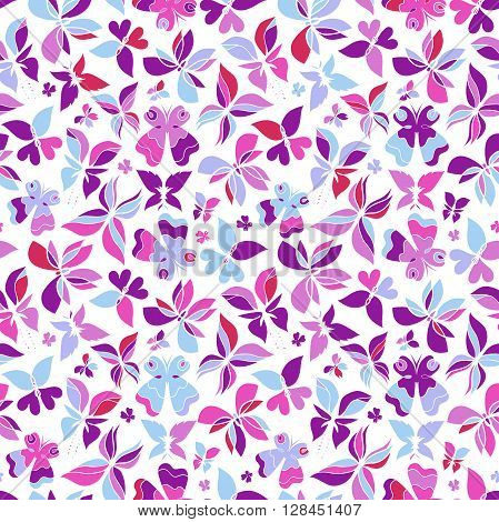 Butterfly seamless pattern colorful butterfly background butterflies vector can be used for design fabric wrapping paper package and etc. EPS 8