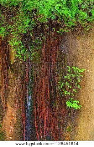 Amazing view of waterfall in Goynuk canyon, Antalia, Turkey