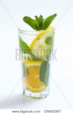 summer lemonade isolated