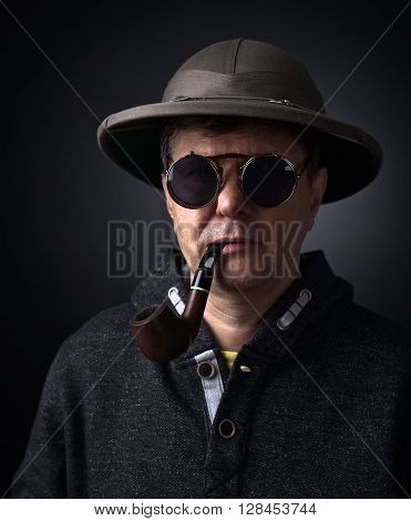 Portrait Of A Man With A Smoking Pipe