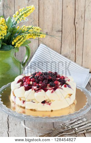 Spring Cake With Berries