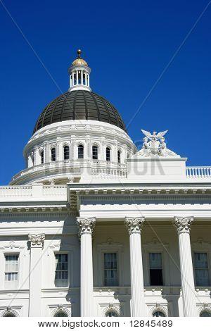 Close-up of the Sacramento Capitol building, California, USA.